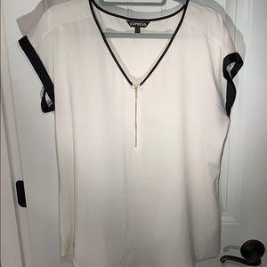 Express silk-like top